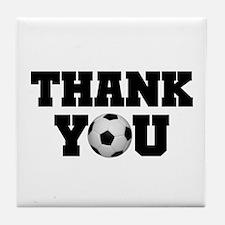 Soccer Thank You Tile Coaster