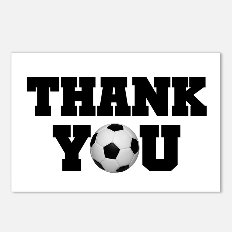 Soccer Thank You Postcards (Package of 8)