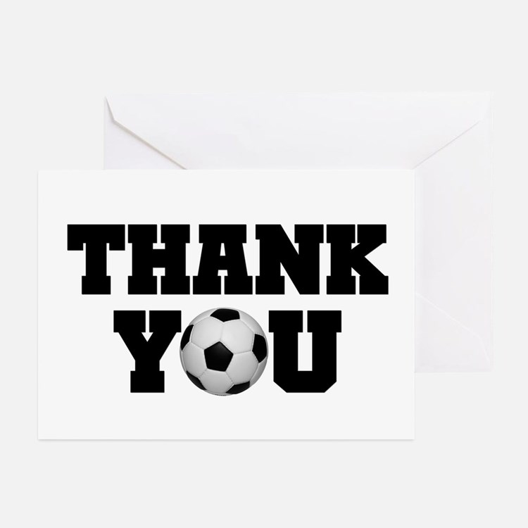 Soccer Thank You Greeting Cards (Pk of 20)