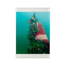 Christmas Tree Scuba Flag Rectangle Magnet