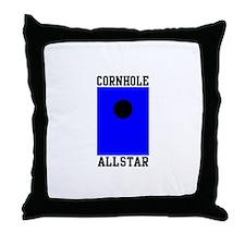 Cornhole Allstar Throw Pillow