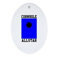 Cornhole Allstar Oval Ornament