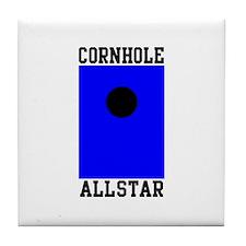 Cornhole Allstar Tile Coaster