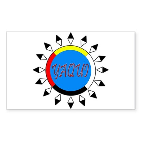 Yaqui Rectangle Sticker
