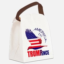 Trump Pence America 1st Canvas Lunch Bag