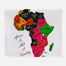 Africa Is Not A Country Throw Blanket