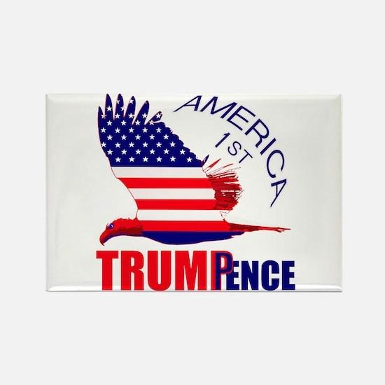 Trump Pence America 1st Rectangle Magnet