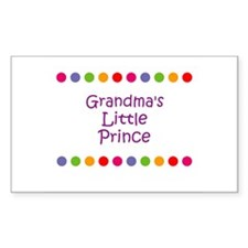 Grandma's Little Prince Rectangle Decal