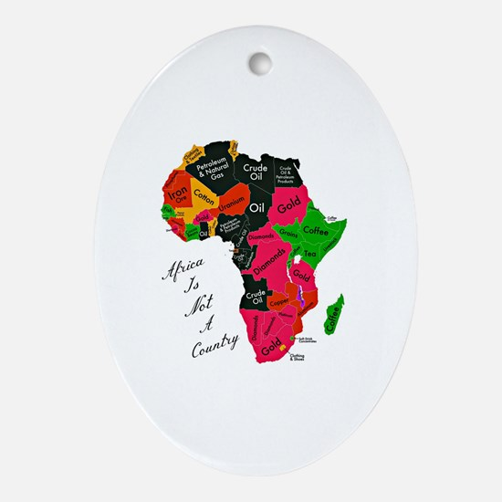 Cute Afrocentric Oval Ornament