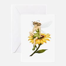 Fairy on a Sunflower Greeting Card