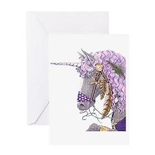 Purple Unicorn Greeting Card