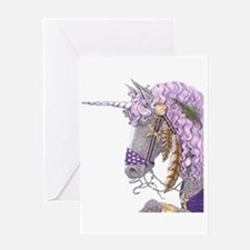 Purple Unicorn Greeting Card