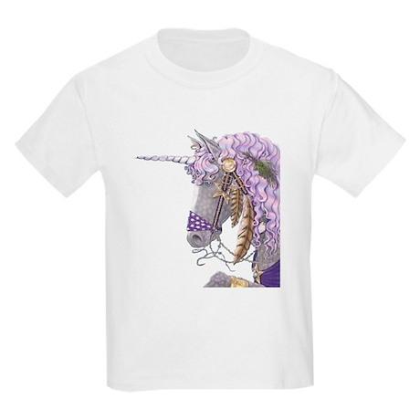 Purple Unicorn Kids Light T-Shirt