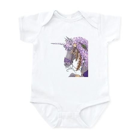 Purple Unicorn Infant Bodysuit