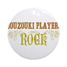 Bouzouki Players Ornament (Round)