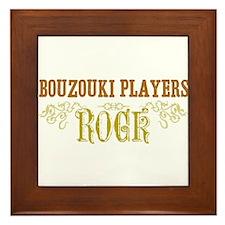 Bouzouki Players Framed Tile