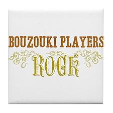 Bouzouki Players Tile Coaster