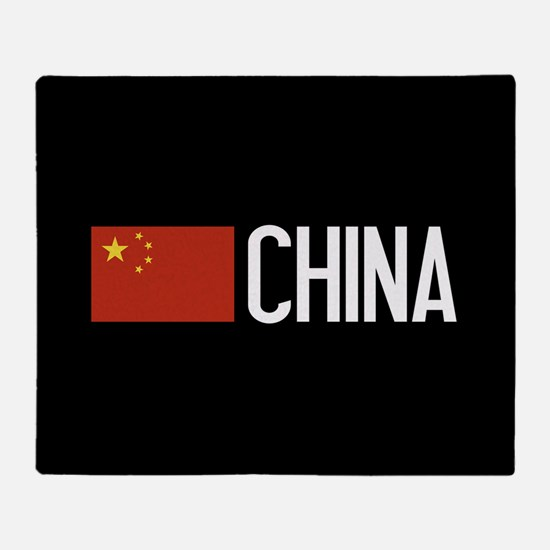 China: Chinese Flag & China Throw Blanket