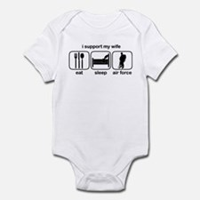 Eat Sleep Air Force - Support Wife Infant Bodysuit