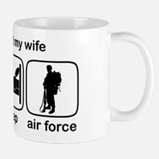 Eat Sleep Air Force - Support Wife Mug