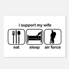 Eat Sleep Air Force - Support Wife Postcards (Pack