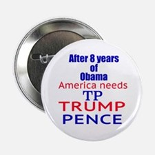 """Trump Pence TP Time 2 2.25"""" Button"""