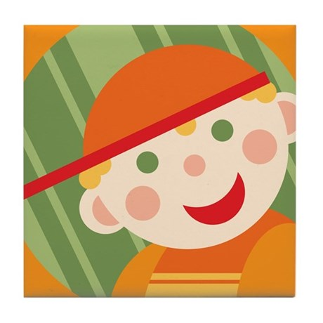 Retro Toddlers Tile Coaster