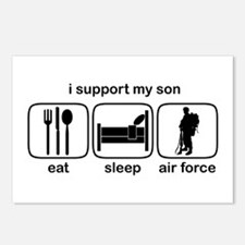 Eat Sleep Air Force - Support Son Postcards (Packa
