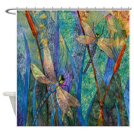 Cute Dragonfly Shower Curtain