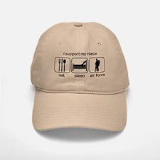 Eat Sleep Air Force - Support Niece Baseball Baseball Cap