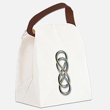 Double Infinity Cloisonne Blue G Canvas Lunch Bag