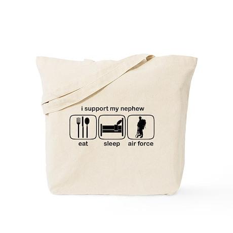 Eat Sleep Air Force - Support Nephew Tote Bag