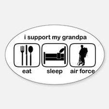 Eat Sleep Air Force - Support Grndpa Decal