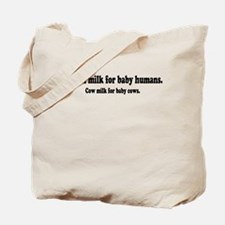 Human Milk For Human Babies Tote Bag