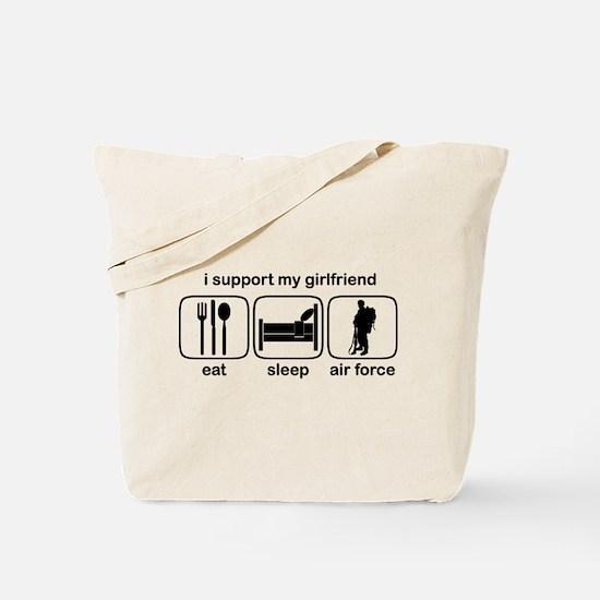 Eat Sleep Air Force - Support GF Tote Bag