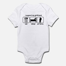 Eat Sleep Air Force - Support GF Infant Bodysuit