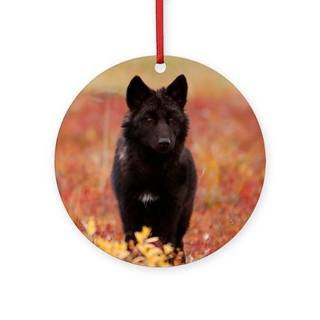 Autumn Wolf Ornament (Round)