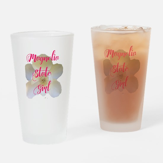 Magnolia State Girl Drinking Glass