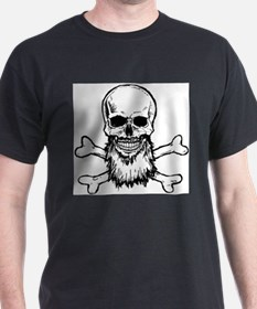 White Cross Bone Beard T-Shirt