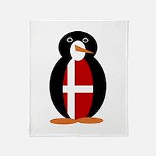 Penguin Flag Denmark Throw Blanket