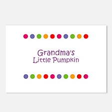 Grandma's Little Pumpkin Postcards (Package of 8)