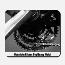 Mountain Biker's Heavy Metal Mousepad