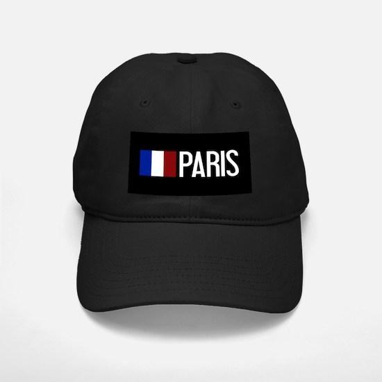 France: French Flag & Paris Baseball Hat