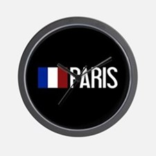 France: French Flag & Paris Wall Clock