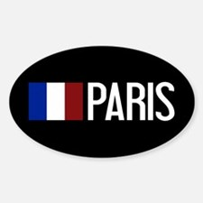 France: French Flag & Paris Sticker (Oval)