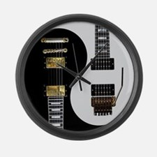 Yin Yang - Guitars Large Wall Clock