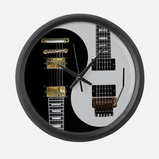 Yin Yang - Guitars Large Wall Clock