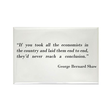 George Bernard Shaw Rectangle Magnet