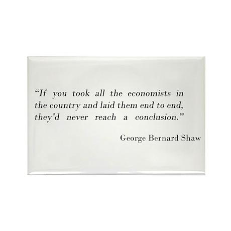 George Bernard Shaw Rectangle Magnet
