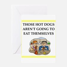 hot dog Greeting Cards